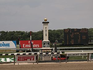 Glossary of North American horse racing - The finish post at Belmont Park
