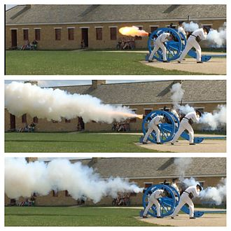 Cannon operation - Firing of a 6-pound cannon