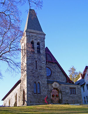 United Methodist Church of the Highlands - East (front) elevation and south profile, 2008