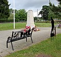 First World War silhouettes and bench in Ystrad Mynach (geograph 6172159).jpg