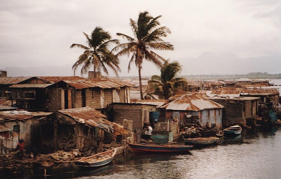 Fishing village in Haiti