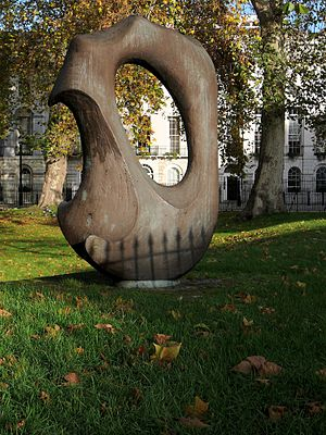 Fitzroy Square - A sculpture by Naomi Blake in Fitzroy Square Garden