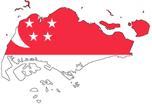 Flag-map of Singapore