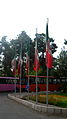 Flag of Iran in the Nishapur Railway Station square 13.JPG