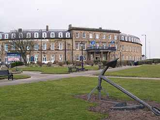 Fleetwood - North Euston Hotel (1841) as seen from Jubilee Gardens.