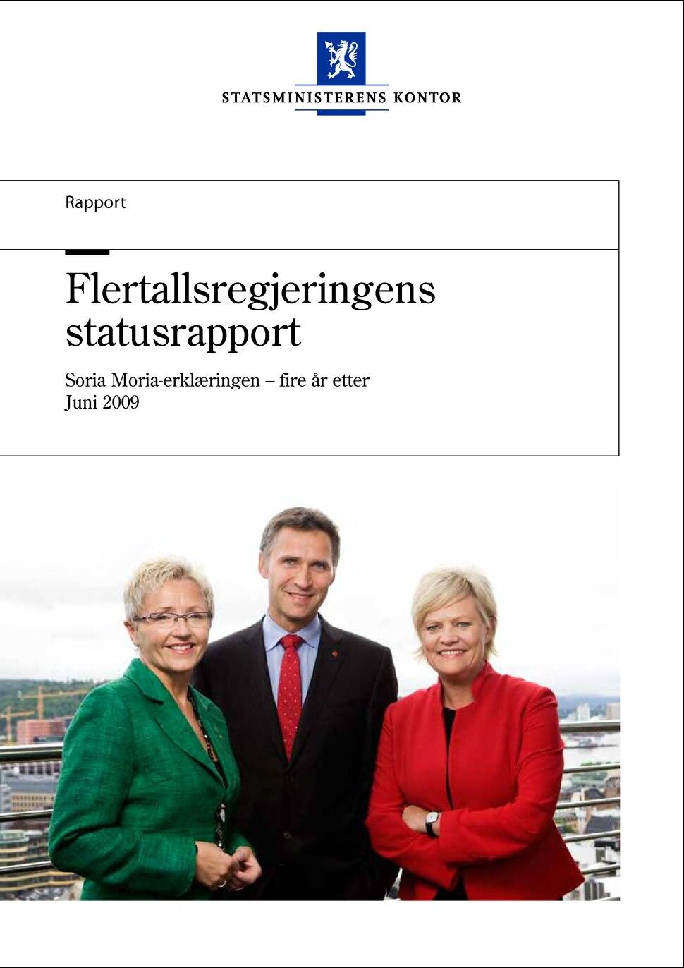 Flertallsregjeringens statusrapport.djvu