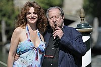 Director Tinto Brass, with Caterina Varzi, in 2009