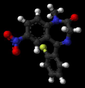 Flunitrazepam - Image: Flunitrazepam from xtal 3D balls