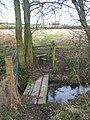 Footbridge on footpath to Morry Lane - geograph.org.uk - 1196039.jpg