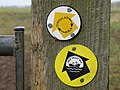 Footpath marker discs - geograph.org.uk - 1540205.jpg