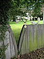 Footpath through a churchyard - geograph.org.uk - 882243.jpg