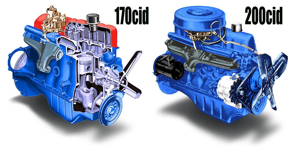 file ford 170 and 200cid i 6 engines jpg wikimedia commons BMW 6 Cylinder Engine Diagram file ford 170 and 200cid i 6 engines jpg
