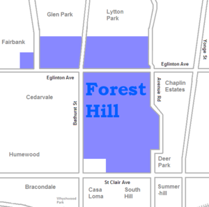 Forest Hill, Toronto - Image: Forest Hill map