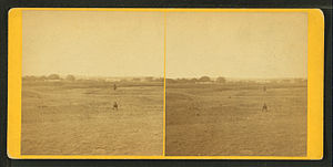 Fort Hays - View of Fort Hays and the surrounding plains (1867)