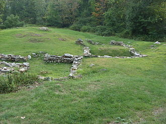 57th (West Middlesex) Regiment of Foot - Ruins of Fort Montgomery, stormed by the regiment in October 1777