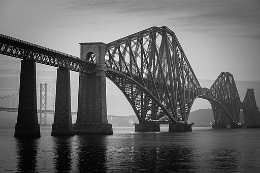 Forth Bridge Misty Mono (15137389978)