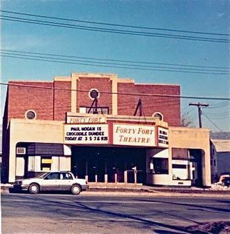 Tom Alexander - Exterior of the Forty Fort theater taken in 1987.
