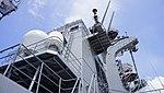 Forward funnel of JS Fuyuzuki(DD-118) right rear low-angle view at JMSDF Maizuru Naval Base July 27, 2014.jpg