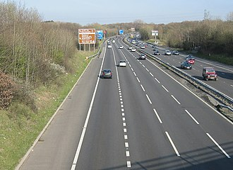 Trunk roads in Wales - Image: Four Lane M4, South Wales. geograph.org.uk 388330