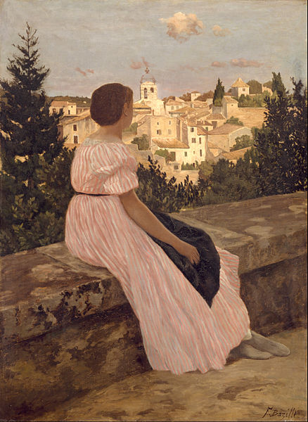 File:Frédéric Bazille - The Pink Dress - Google Art Project.jpg