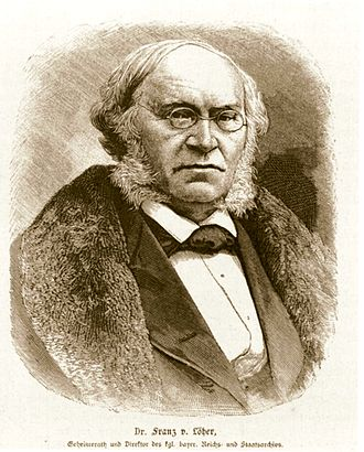 Muhlenberg legend - Franz Löher, whose 1847 German book included an early version of the story.