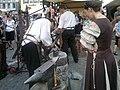 Fraumünster Mittelalter Spectaculum - Schmiede 2011-05-21 19-46-18 (Nokia N8).jpg