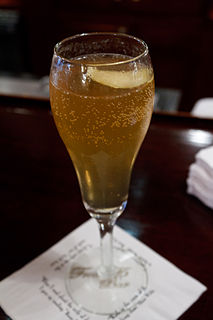 French 75 (cocktail) Cocktail made from gin, Champagne, lemon juice, and sugar