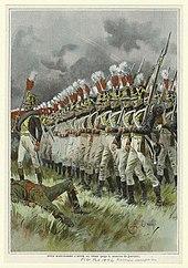 Fanteria di linea francese durante la campagna di Russia.
