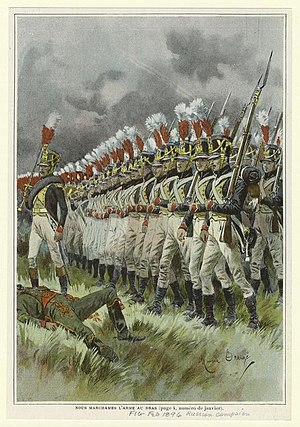 French invasion of Russia - French infantry in 1812