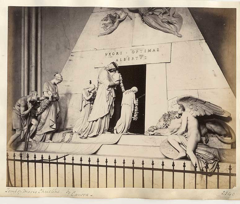 Frith, Francis (1822-1898) - n. 2340 - Tomb of Marie Christine by Canova - Vienna