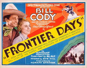 Bill Cody (actor) - Cody and Ada Ince in Frontier Days (1934)