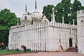 Moti Masjid (Red Fort) - Exterior view of the Pearl Mosque (Moti Masjid) of the Red Fort