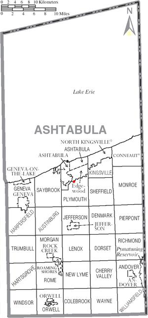 Smolen–Gulf Bridge - Image: Future covered bridge in Ashtabula County Ohio Dot Map