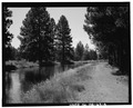 GENERAL VIEW TO WEST. - Deschutes Irrigation and Power Company Canal, Bend, Deschutes County, OR HAER ORE,9-BEND,1-4.tif