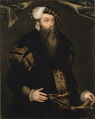GUSTAV VASA (1496-1560), kung av Sverige, gift med 1. Katarina av Sachsen-Lauenburg, 2. Margareta Leijonhufvud, 3. Katarina Stenbock