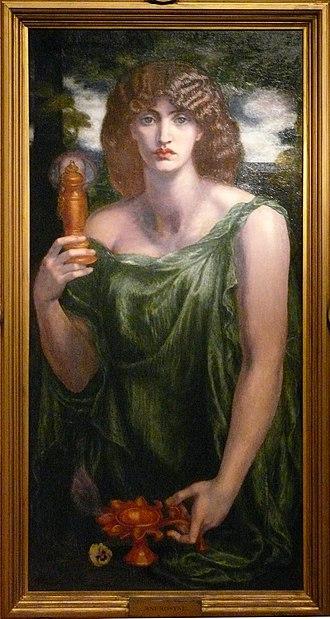 Mnemosyne (Rossetti) - Image: Gabriel Dante Rosetti, Mnemosyne