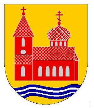 Gammalsvenskby - Unofficial coat of arms of Gammalsvenskby by Christopher-Joseph Ravnopolski-Dean