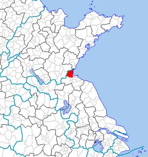Ganyu District District in Jiangsu, Peoples Republic of China