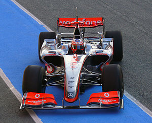 Gary Paffett - Paffett testing for McLaren at the Autódromo Internacional do Algarve in December 2008.