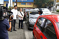 Gatchalian inspects parking spaces.JPG