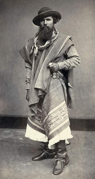 Gaucho - Gaucho from Argentina, photographed in Peru, 1868