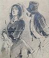 "Gavarni P. attr. - Pencil - ""La Sainte-Nitouche"" - 12x14.5cm.jpg"