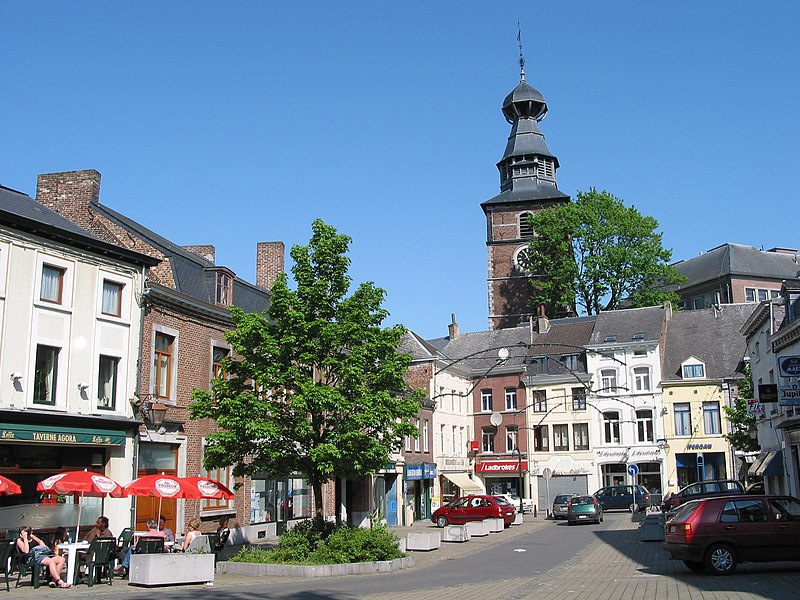 Gembloux (Belgium), the City Hall place and the belfry.