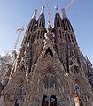 General view - Nativity Facade - Sagrada Família - Barcelona 2014 (2).jpg