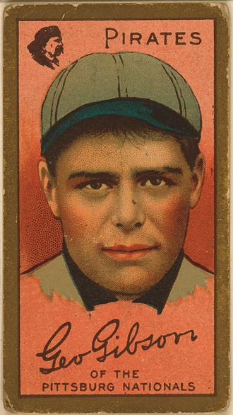 George Gibson (baseball) - Image: George Gibson baseball card