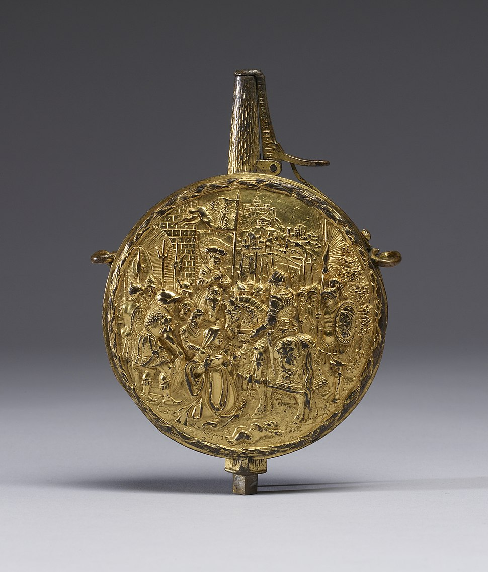 German - Flask for Priming Power with the Justice of Trajan - Walters 511334