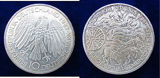 Treaty of Rome - A 1987 Silver Coin