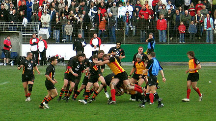 Germany playing Belgium Germany vs Belgium rugby match.jpg