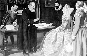 Gilbert demonstrating the magnet before Queen Elizabeth Wellcome M0000132.jpg
