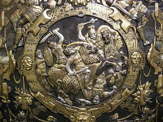 Ghisi Shield - Image: Giorgio ghisi, mantova, scudo da parata, 1554, 02